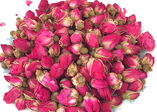 piled dried rose buds