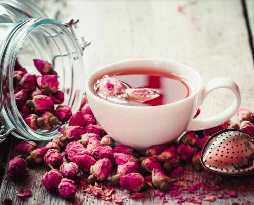 rose petal tea, rose tea, rose decoction